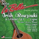 La Bella ib1245h buzuki irlandés de 8String Fósforo Bronce, Ball End, Heavy
