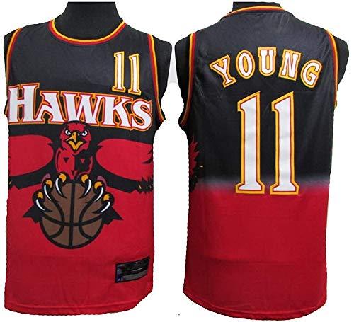 WSUN Camiseta para Hombre NBA Trae Young # 11 Atlanta Hawks NBA Unisex Camisetas Sin Mangas para Jóvenes Trajes De Competición Deportiva Al Aire Libre,XL(180~185CM/85~95KG)