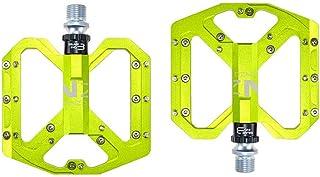"""Bike Pedals Fiber BMX MTB 9//16/"""" Flat Pedals Attach 20 Spare Pins # Yellow"""