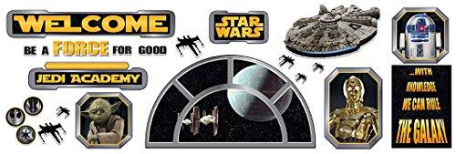Eureka Star Wars Welcome Classroom Bulletin Set Classroom Decor, 0.1 x 18 x 28 inches, 24 Pieces (847543)