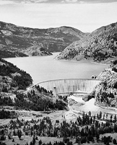 High angle view of a dam, Gibson Dam, Sun River, Montana, USA Poster Print (24 x 36)