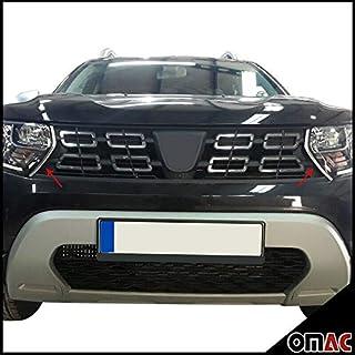 Für Dacia Duster II 2018 2021 Grill Leisten Kühlergrill 2 tlg Edelstahl Chrom