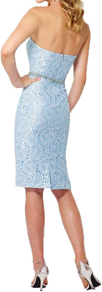 Royaldress Damen Elegant Brautmutterkleider Knielang mit Jacke Satin Abendkleider mit Aermel Knielang Grau