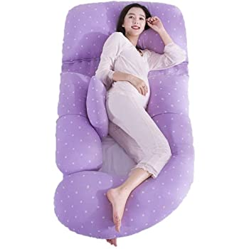 Pregnant Women Pillow Postpartum Breastfeeding Pillow Children's Fence Waist Side Sleeping Pillow, Linens, Maternity Pillow, Body Pillows for Adults (Color : A)