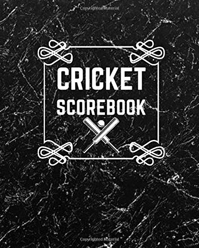 "Cricket Scorebook: Game Record Book Journal, Score Keeper, Fouls, Scoring Sheet, Outdoor Games recorder Notebook Gifts for Friends, Family, Cricket ... 10"", 120 pages. (Cricket Logbook, Band 50)"