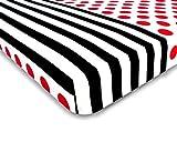 DecoKing Premium 93863 Hypnosis Collection Pinup 1 - Sábana bajera ajustable (microfibra, 220 x 240 ...