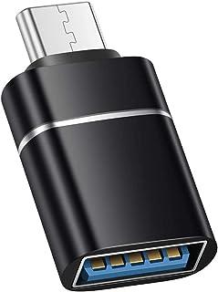 USB Type C to USB 3.0 変換アダプタ 変換コネクタ 5Gbps高速データ転送 合金製 黒