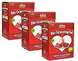 Elite Naturel Bio Granatapfel Direktsaft (Muttersaft), Bio Granatapfelsaft in der Box, 3x 3 l