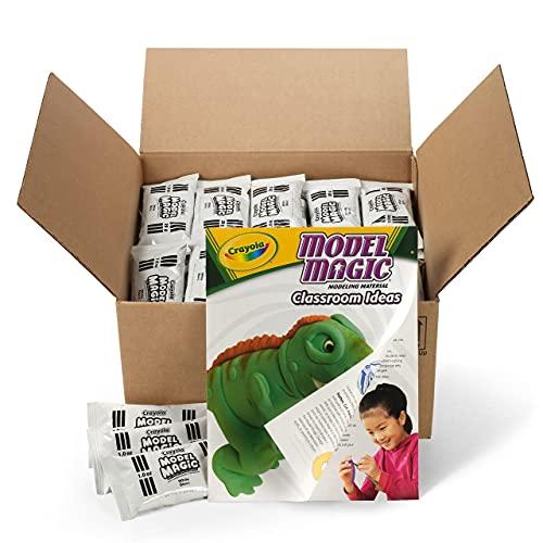 Crayola Model Magic Classpack, White Clay, Modeling Clay Alternative, 75 Single Packs
