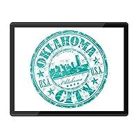 QuickmatプラスチックMousemat 8x10-オクラホマシティアメリカアメリカ旅行の職場/テーブルマット/マウスパッド/ワイプ可能/防水#5832