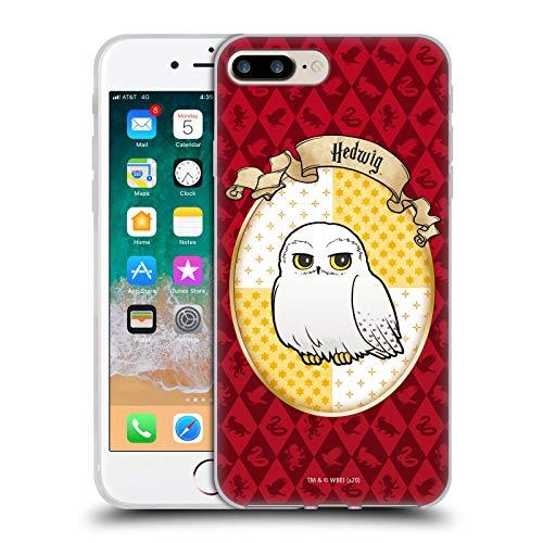 Head Case Designs Oficial Harry Potter Hedwig Deathly Hallows XXXVI Carcasa de Gel de Silicona Compatible con Apple iPhone 7 Plus/iPhone 8 Plus