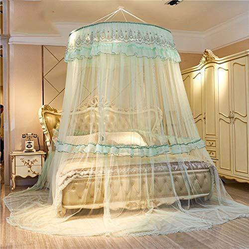 Irinay European Princess Dome Cama Suspendida con Casual Chic Dosel Mosquitera Doble Hogar Encriptado Cortina De Mosquito Engrosada H Queen2 (Color : Colour, Size : Size)