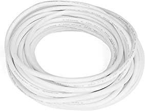 XJS Electric Copper Core Flexible Silicone Wire Cable White 10M 32.8Ft (18AWG 20KV)