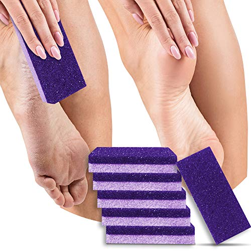 PACK OF 6 - Pumice Stone for Feet, 2 in 1 Foot Scrubber, Callus Remover, Dead Skin Remover for Feet,Professional Foot Pumice, Pedicure Foot File