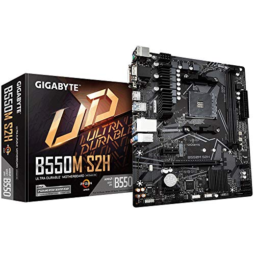 Gigabyte B550M S2H mATX Motherboard for AMD AM4 CPUs