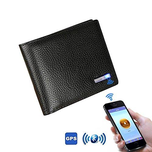 Pawaca Bluetooth Portemonnee, portemonnee Mannen, Portemonnee Finder Smart Tracker GPS Mannen, tweevoudige portemonnees Mannen