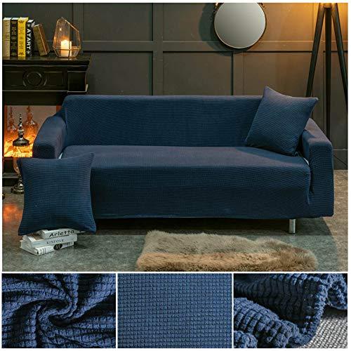 ASCV Funda de sofá de Tela de Forro Polar elástico Fundas de sofá de Color sólido para Sala de Estar Funda de sofá seccional Fundas de sofá A7 1 Plaza