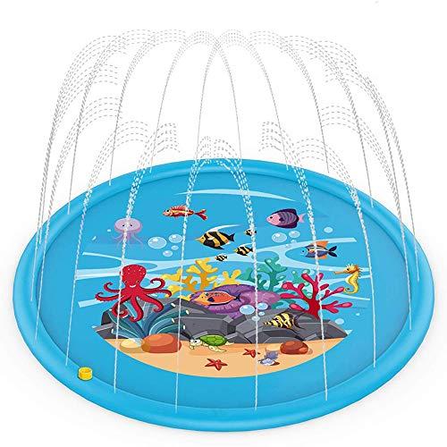 Lzcaure Aspersor para piscina de 170 cm para exteriores, alfombrilla de juego para niños, rociador, piscina, juguetes para bebés, fuente de agua (color C1, tamaño: 170 x 170 cm)
