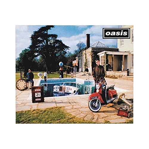 Oasis Be Here Now - Coperta in flanella di pile, 150 cm x 160 cm, per tutte le stagioni, in microfibra, super leggera, calda e accogliente coperta per letto, divano, auto