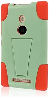 Empire MPERO IMPACT X Series Kickstand Case for Nokia Lumia 925 - Retail Packaging - Coral/Mint