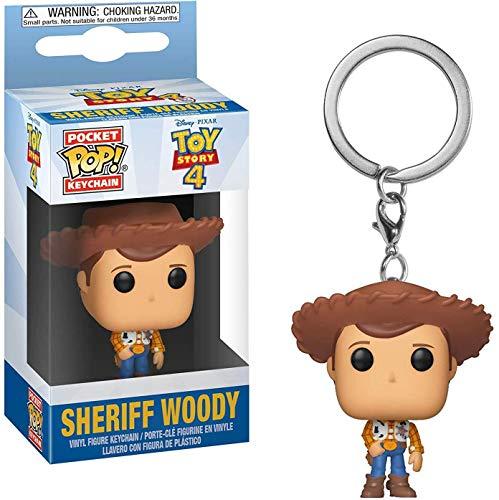 Funko Pop! - Llavero Pixar Toy Story 4 - Woody - Figura
