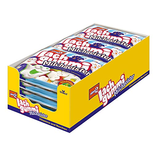 nimm2 Lachgummi Milchgeister – Spaßiges Fruchtgummi mit Vitaminen – 15er Pack (15 x 225g Beutel)