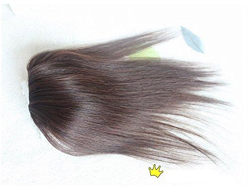Haarteil mit Clips, Echthaar, für dünner werdendes Haar, 25 cm