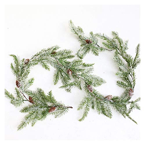 DDDCM Artificial Vine Decorative Snowflake Pine Branches Green Garland Leaves Wreath Wall Decor For Wedding (Color : Type A)
