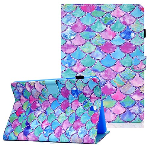 Coopts Galaxy Tab A 9.7 Cases and Covers for SM-T550/SM-P550, Colorful PU Leather Magnetic Cover with Multi-Angle Viewing Stand Shockproof Sleeve for Samsung Galaxy Tab A 9.7 inch 2015, Color Scales