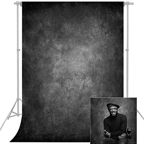 econious Fotografie Hintergrund, 1,5 x 2,2 m Abstrakt Dunkles Schwarz Fotohintergrund für die Fotografie, Fotografie Hintergrund für Studio-Requisiten,...
