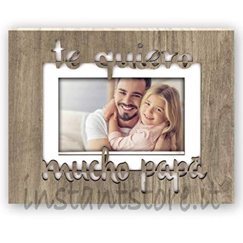 ZEP Roberto es - Marco de Fotos de Madera con Texto Te Quiero Mucho papà para Fotos de 10 x 15 cm