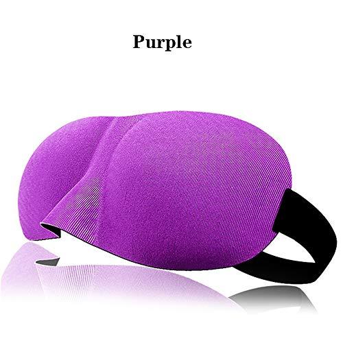 Augenmaske für schlafende Männer, 3D-Schlafmaske, niedlicher Cartoon mit rutschfestem, verstellbarem Reise- / Nickerchengürtel, für Männer und Frauen, Schlafmaske, lila