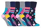 Gentle Grip - calcetines mujer sin goma colores fantasia estampados de algodon tamaño 37-42 eur (GG189)