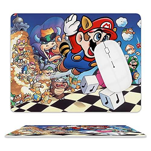 M-arioo - Alfombrilla de ratón para videojuegos (antideslizante, con borde antideslizante, resistente al agua, alfombrilla de ratón de oficina, duradera, alfombrilla de escritorio