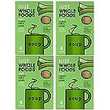Just Wholefoods Sopa orgánica vegana – 68 g – puerro y patata (paquete de 4)
