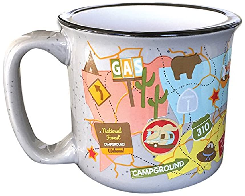 Camp Casual CC-004TMG Travel Map Mug  CBXBO