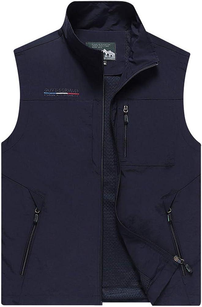 Mens Purchase Work Vest Rapid rise Summer Travel Cargo Jackets Sleeveless Photo