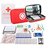 First Aid Kit Portable Waterproof 91 Pack Necessary Hospital Grade Medical Supplies