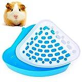 FANDE Triángulo Orinal Corner Caja, Bandeja higiénica esquinera para Mascotas,diseño de triángulo pequeño. para hámsters, Chinchillas, cobayas, Conejos y Hurones.