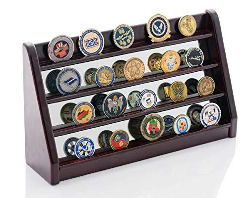 Soporte para monedas Challenge – Espejo Challenge monedero es un gran regalo para militares, bomberos y policía – hace monedas de recuerdo Pop – Funda también muestra coleccionable casino poker chips