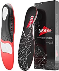 ★ HIGH ARCH SUPPORT INSOLES: premium podiatrist-recommended sole shoe inserts for men and women minimize arch pain and offer excellent comfort. EASYFEET shoe insoles provide plantar fasciitis - high arch - flat feet - pronation - back - ankle - knee ...
