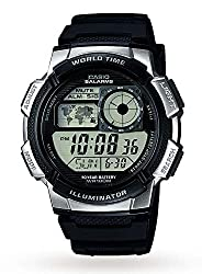 World time function Features countdown timer, stopwatch and Five alarms Water resistant up to 100 m