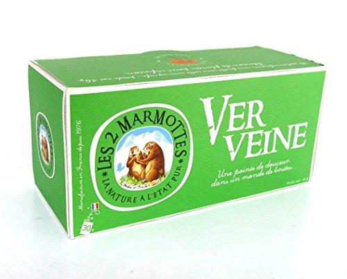 Les 2 Marmottes, Verveine Tee, Eisenkraut Tee 30 Beutel 46 g