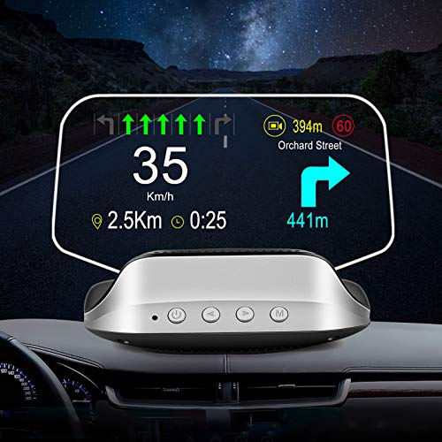Autopmall Heads up Display for Cars navdy hud for car OBD2+GPS Dual Mode Suspended Virtual Display Head Up Display Speedometer Mileage Diagnostic Tools, Read Data Flow Fault Alarm Fault Clearing