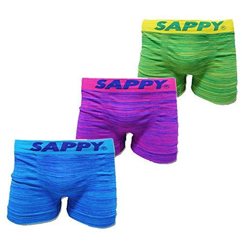 SAPPY サピー シームレスボクサーパンツ 3P成型ボクサー2019AW 3枚セット D-696 (L)