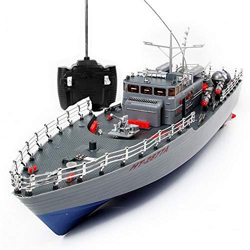 TBFEI RC 2.4G Barco De Control Remoto For La Piscina Del Lago Pull Fish Net Warship Modelo De Barco De Juguete Altura Del Barco De Torpedos Regreso, Modelo De Barco De Juguete De Buque De Guerra Es Ad