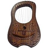 Lyre harpe celtique avec 10 cordes en métal gravées