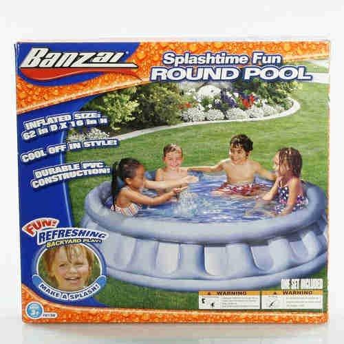 Banzai Splashtime Fun Round Inflatable Pool
