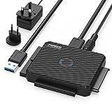 USB IDE ou SATA Adaptateur, FIDECO USB 3.0 Adaptateur de Disque Dur pour SATA HDD/SSD...