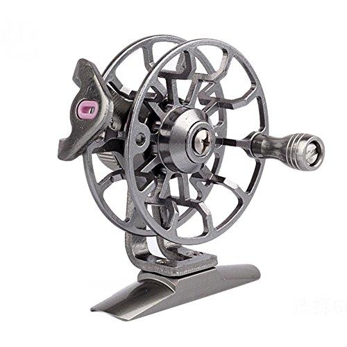 DOGZI Angelrolle Spinnrollen, Angeln Rollen Spinning-Rollen Aluminium Fly Angelrolle Durchmesser 55mm Größe Rechte Hand Abrufen